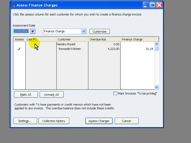 Access Finance Charges