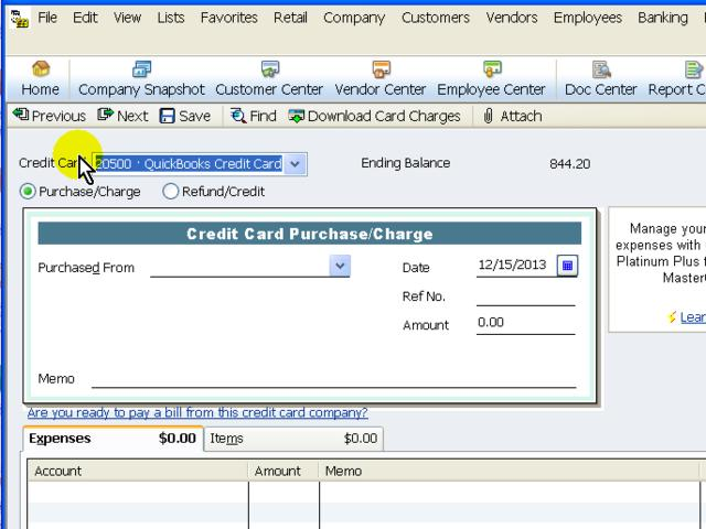 Create Credit Card Charges