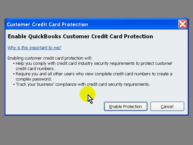 Enable Creditcard Compliance