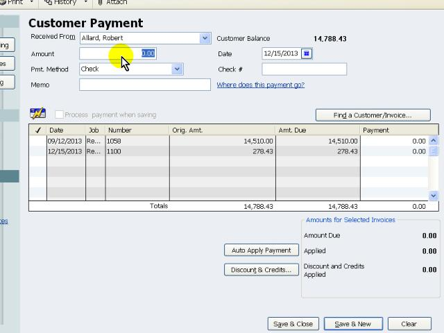 Receive Customer Payments